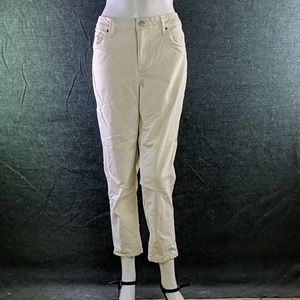 Calvin Klein Pale Yellow-Cream Skinny Ankle Jeans